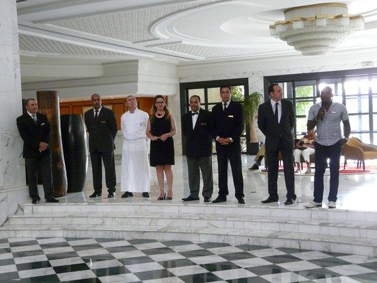 Hotel Palace Oceana Hammamet: Le staff de l'hôtel