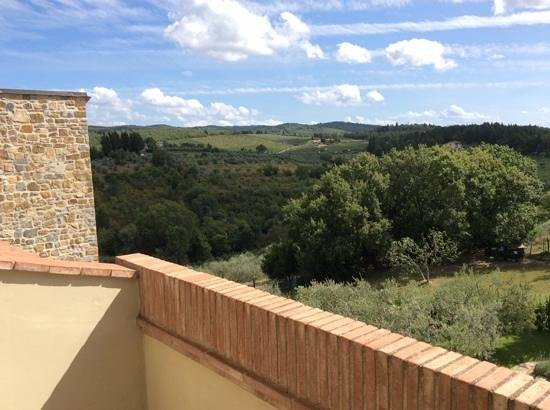 La Compagnia del Chianti: View from our balcony
