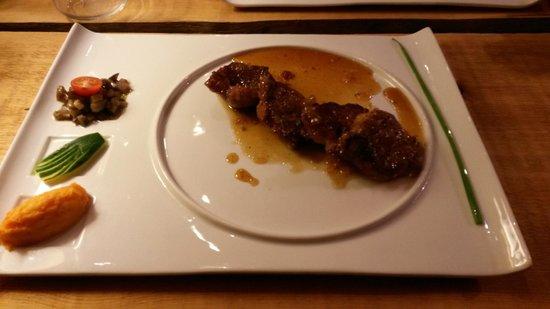 restaurant l'épicéa : Filet mignon de porc des Colibris, miel et citron
