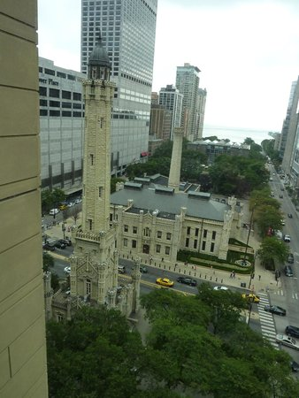 Park Hyatt Chicago: Looking out at the Chicago Water Tower and Lake Michigan
