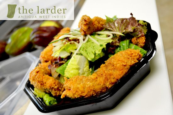 The Larder: Popcorn Chicken Salad to go