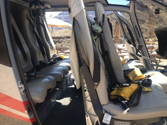 Maverick Helicopters : Inside the Helicopter, comfortable seating, plenty of room