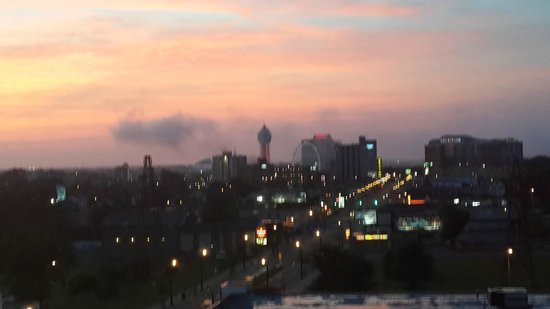 Niagara Falls: View from our hotel room at dawn
