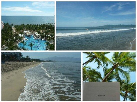 Hotel Riu Vallarta : The pool and beach areas