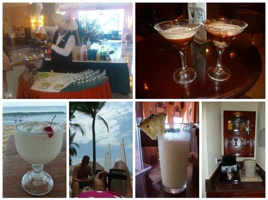 Hotel Riu Vallarta : Holiday drinks - even optics in the room :)