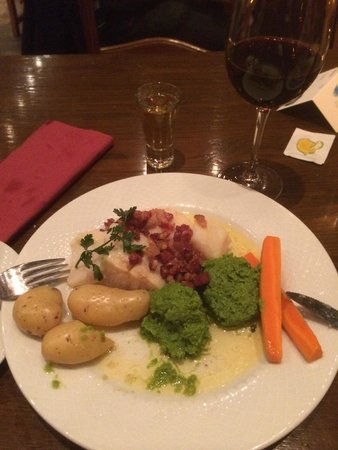 Bryggeloftet & Stuene : A lovely meal of klipfish (Bacalao)