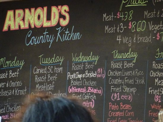 Arnold's Country Kitchen : The menu!