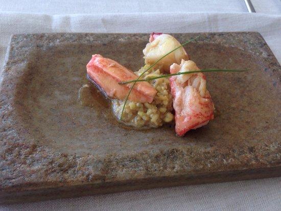Culler de pau: Bogavante con risotto vegetal