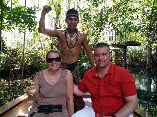 Sandos Caracol Eco Resort: Very nice romantic boat ride with Hugo and Jesus ;) !!!!