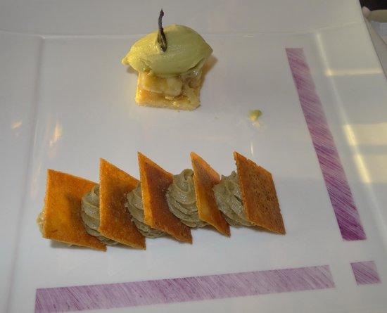 Hôtel Brittany & Spa : Dessert 2 (Variation von der bretonischen Artischoke)