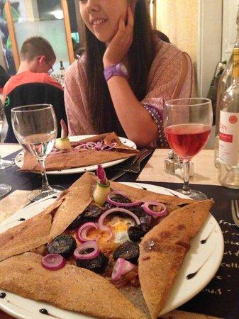 Hotel Les Templiers : Black sausage crepe