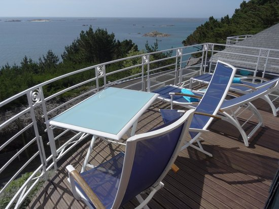 Manoir de Lan Kerellec : Blick vom Balkon