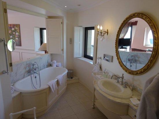 Manoir de Lan Kerellec : Unser Badezimmer