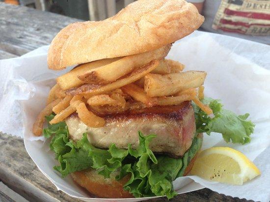 Hooked Up Seafood: Hooked Up Tuna Steak Sandwich... Italian Style!