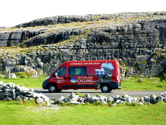 West Ireland Cycling support van