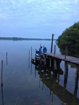 Laguna de Manialtepec: Early morning on lagoon for birdwatching