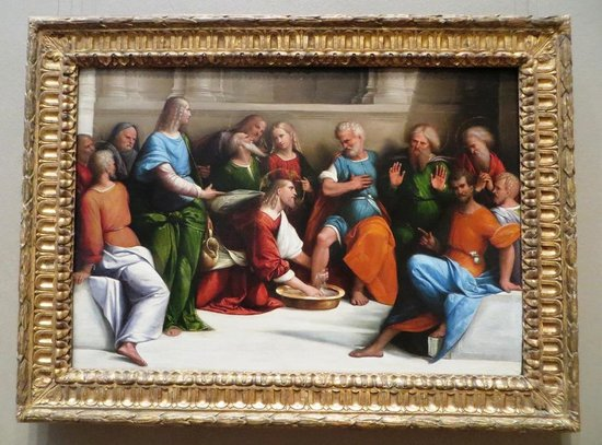 National Gallery of Art: Christ washing the Desciples Feet, Benvenuto Tisi