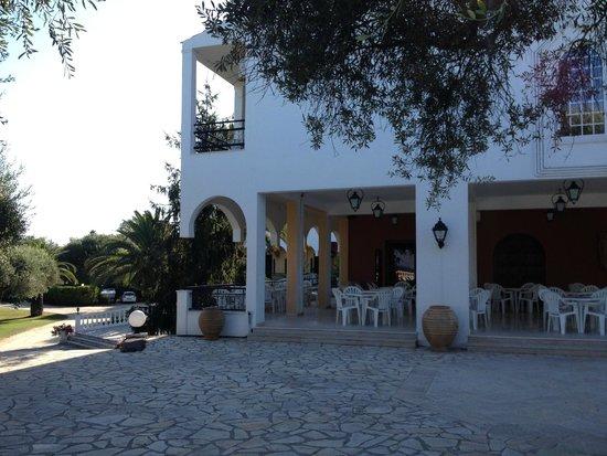 Paradise Hotel Corfu: From the Pool towards Hotel