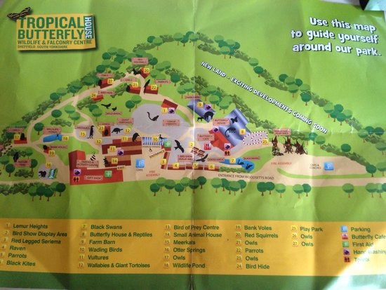 Park Map Picture Of Tropical Butterfly House Wildlife Falconry
