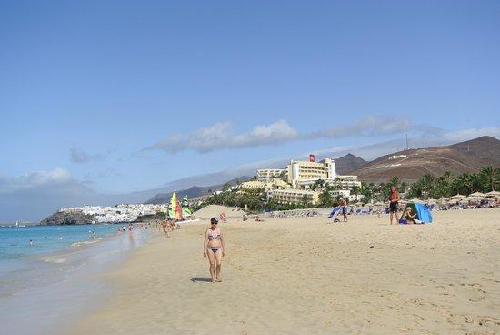 Hotel Riu Palace Jandia: Hôtel depuis la plage