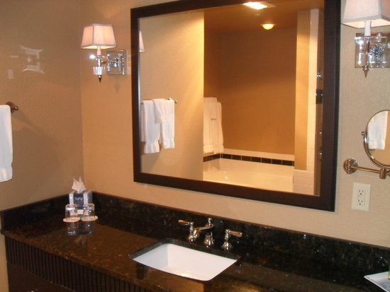 The Clarke Hotel: One sink, large counter area