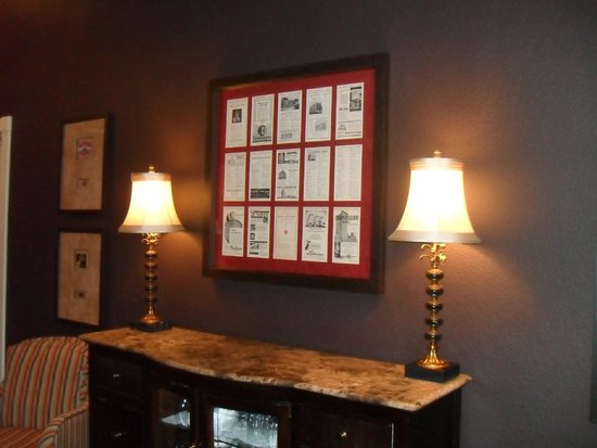 The Clarke Hotel: Great old photographs, old travel stickers from hotels all over with keys