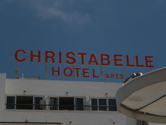 Christabelle Hotel Apartments: Sign