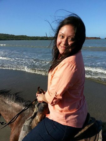 ClubHotel Riu Merengue: My wife in our horse riding outing