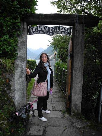 Locanda dell'Isola Comacina : Ingresso al vialetto