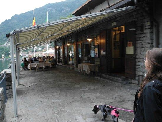Locanda dell'Isola Comacina : Ingresso del ristorante