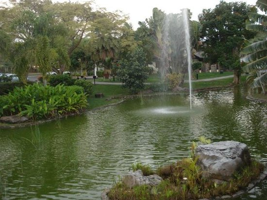 Sofitel Mauritius L'Imperial Resort & Spa: gym in the back of the pond