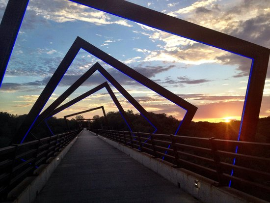 High Trestle Trail: High Trestle Bridge at sunset.