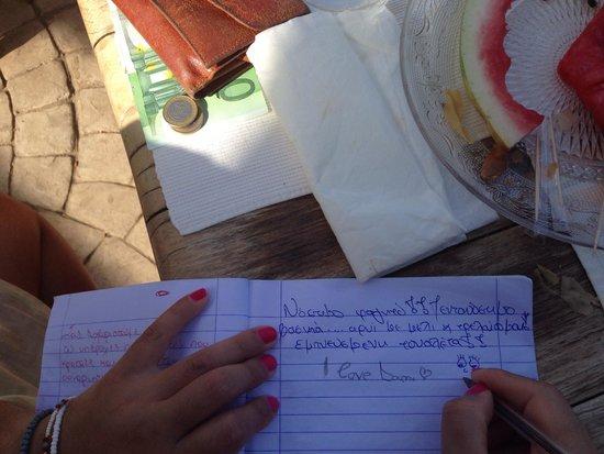 Gramboussa : Μαζί με το λογαριασμό και το τετράδιο των εκθέσεων