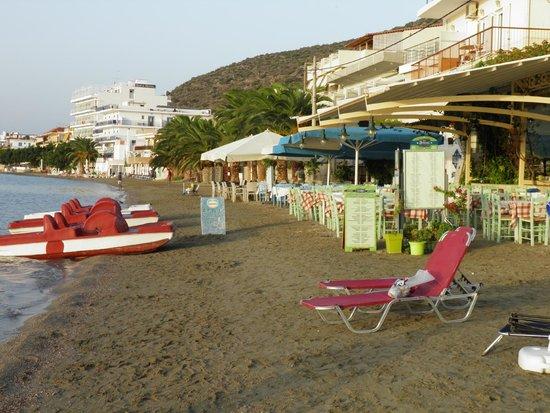 Frini Hotel: Παραλία μπροστά απο την Επιχείρηση