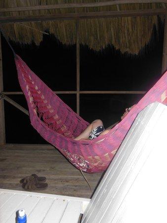 Barefoot Beach Belize: Deck with Hammocks