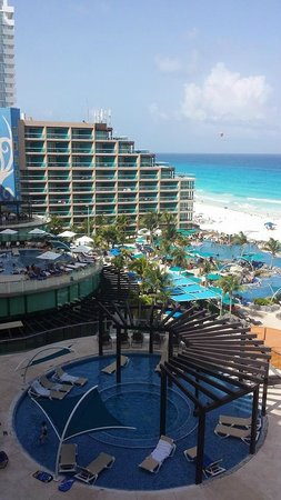 Hard Rock Hotel Cancun: View from our first room