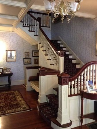 the front hall at the Berry Manor Inn