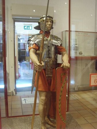 Caerleon Roman Fortress and Baths: Roman Soldier ready for battle