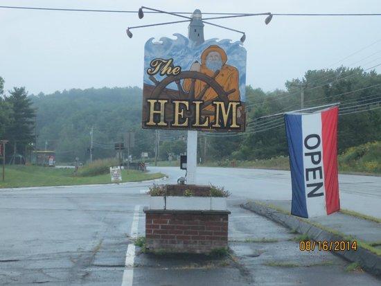 The Helm: roadside sign