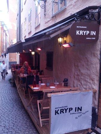 Restaurang Kryp In: Kleine beheizteTerasse