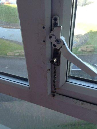 Norbreck Castle Hotel : Broken window screwed shut