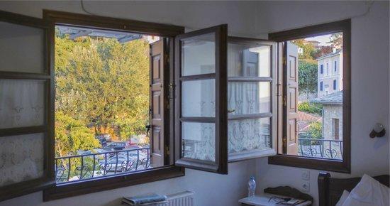 Hotel Ageri Archontiko Kleitsa : Θέα από τα παράθυρα του δωματίου μας
