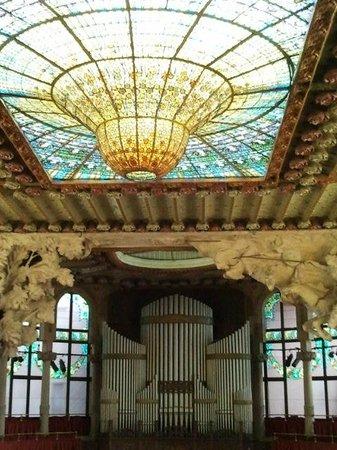 Palais de la Musique Catalane (Palau de la Musica Catalana) : orgue et toit de verre