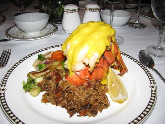 Lancellotti Dining Room at Geneva on the Lake: Stuffed lobster tail
