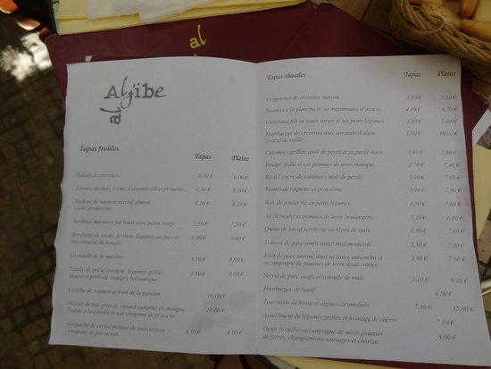 Al Aljibe : Carte en français