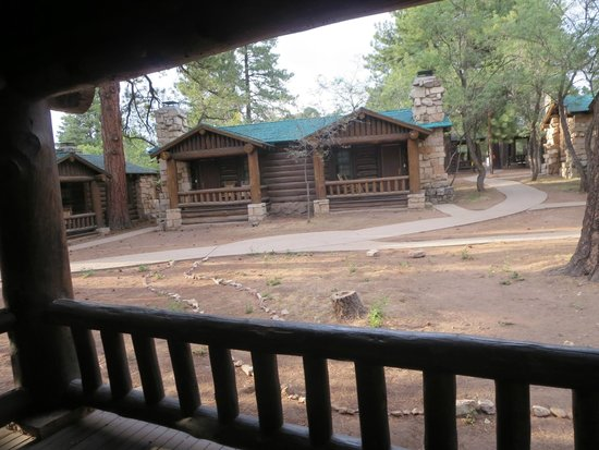 Grand Canyon North Rim: view from our Western cabin