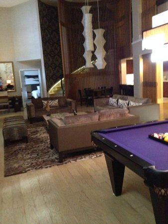 Nobu Hotel At Caesars Palace: Pool Table And Lounge Area In Suite