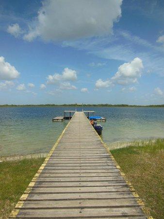 A Plus Adventures Belize: Dock at Lamanai