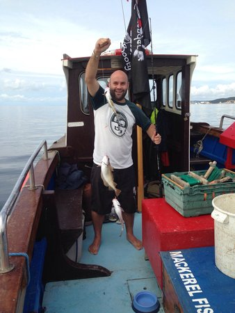 Harry May Boat Trips: A proud fisherman!