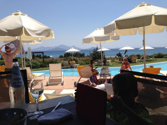Helona Resort: Pool bar view